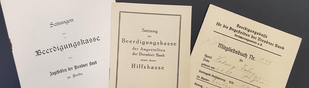 Historische Dokumente der Vorsorgekasse